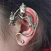 Mulheres Brincos Curtos Punhos da orelha Original Personalizado Vintage Liga Dragão Jóias Para Festa Diário