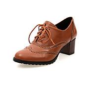 tacones gruesos de la mujer con los zapatos huecos-hacia fuera (más colores)