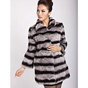 純正長袖メイクカラーレックスウサギの毛皮のコート