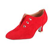 Zapatos de baile (Negro/Marrón/Rojo) - Zapatos de Práctica/Salón de Baile/Moderno - No Personalizable - Tacón grueso
