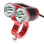 自転車用ライト 自転車用ヘッドライト LED Cree XM-L T6 サイクリング 充電式 18650 2400 ルーメン バッテリー サイクリング