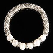 Aleación de moda con la pulsera de perla de las mujeres
