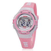 Dětské Sportovní hodinky Náramkové hodinky Křemenný LCD Silikon Kapela Běžné nošení Černá Bílá Růžová Bílá Černá Růžová