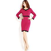 AMC Vestido ajustado Slim (Rojo)