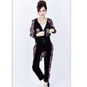 xinzhimeng韓国ベルベットのヒップホップファッションストレッチコットン黒レジャースーツ