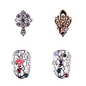 3PCS Zircon Diamond Studded Nail Art Alloy Decorations Riches And Honour No.10-61