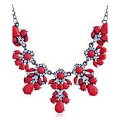 Dámské Náhrdelníky s přívěšky Prohlášení Náhrdelníky Křišťál Štras imitace Diamond Slitina Módní Bílá Černá Fuchsiová Červená Šperky Denní