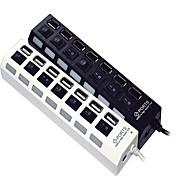 7 puertos USB 2.0 hub de alta velocidad interruptor independiente