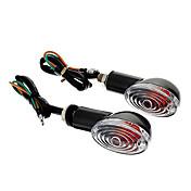 DIY Vandtæt blinklys Gult lys for motorcykler Sort (AC12-16V 8W 2-Piece)
