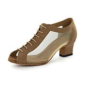 Zapatos de baile (Oro) - Moderno - Personalizados - Tacón grueso