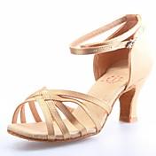 Zapatos de baile (Rojo) - Danza latina/Salón de Baile - No Personalizable - Tacón grueso