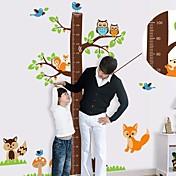 Altura del árbol Cartoon Createforlife ® Gráfico Niños Parvulario etiqueta de la pared la pared del arte Tatuajes
