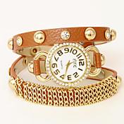 Uパテントおしゃべり革調節可能な時計をあえて