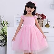 Vestido Chica deUn Color-Algodón-Verano-Rosa