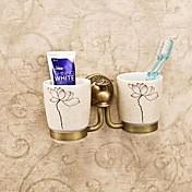 Držák na zubní kartáček Vintage mosaz Na ze´d 20*10*10cm(7.6*5*5inch) Mosaz / Keramika Vintage