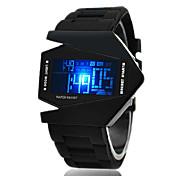 Muškarci Sportski sat Ručni satovi s mehanizmom za navijanje digitalni sat Šiljci za meso LED LCD Kalendar Kronograf alarm Silikon Grupa