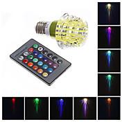 Bombillas LED de Globo 1 LED de Alta Potencia 130-160 lm RGB Control Remoto AC 100-240 V