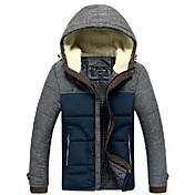 costuras abrigo de algodón de color de los hombres