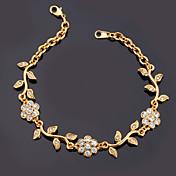 Dámské Řetězové & Ploché Náramky Náramek imitace Diamond Slitina Štras Pokovená platina Pozlacené imitace Diamond Módní Zlatá Šperky