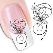 1 Nail Art samolepka Vodotlač Květina Abstraktní make-up Kosmetické Nail Art design