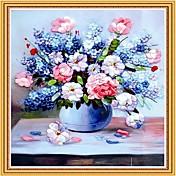 DIYの壁掛け壁の装飾、牧歌的な花のロマンスの3Dステッチワークキャンバスの絵画のアートウォールの装飾