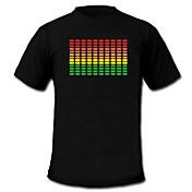 音や音楽はTシャツ(4 * AAA)スペクトルVUメーターELビジュアライザLEDをアクティブに