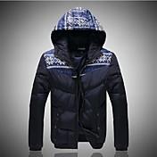 la moda de algodón acolchado ropa exterior ropa capucha de los hombres
