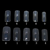 500 ks transparentní barvy plné nehtové tipy tipy akryl nehtů