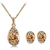 elegantes sistemas de la joyería del diamante de las mujeres