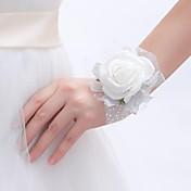 ウェディングブーケ ラウンド型 バラ リストブーケ 結婚式 パーティー ・夜 フォーム 0.39inch(約1cm)