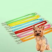 猫用品 / 犬用品 リード 調整可能/引き込み式 / コスプレ 虹色 ナイロン