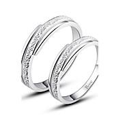 指輪 カップル用 銀 銀 銀 装飾物のカラーは画像をご参照ください.