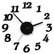 DIY接着剤デカール現代の壁の桁数の部屋のインテリア装飾時計