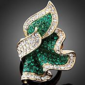 Statement-ringe Legering Imitation Diamond Mode Smaragd Rosa Lyseblå Smykker Fest 1 Stk.