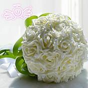"""Cvijeće za vjenčanje Krug Roses Buketi Vjenčanje Polyester Čipka 7.87 """"(Approx.20cm)"""