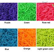 baoguang®600pcs color del arco iris telar goma telar moda fluorescente (clip 1package s, colores surtidos)