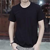 Men's Round Neck Short Sleeve Solid T Shirt
