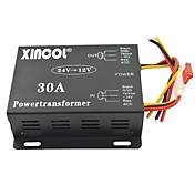 xincol®車両車の直流12Vの30aは、電源トランスに24Vのコンバータ黒