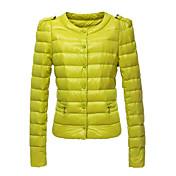 kakani女性のヨーロッパのファッションソリッドカラーの綿のコート
