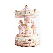 創造的なギフトプレゼント王女の愛の女の子オルゴールオルゴール樹脂カルーセルデザイン