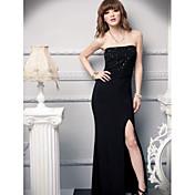 サテン/リボン付きボールガウン恋人の足首の長さのシルクの花嫁介添人のドレス