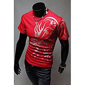 Camisetas ( Algodón Compuesto )- Casual Redondo Manga Corta