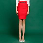 膝丈 - スタイル - スカート ( ニット/ポリエステル ) 膝丈 - 中型