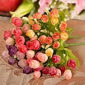 ブランチ シルク プラスチック バラ テーブルトップフラワー 人工花