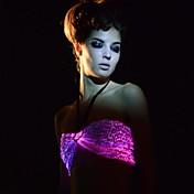 fibra óptica sexy multicolors de control remoto de las mujeres llevaron fiesta / discoteca sujetador