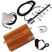 cdma980 850MHz amplificador de señal de teléfono celular de refuerzo con la cobertura de las antenas Yagi de techo y 2.000 m² 70 dB de ganancia