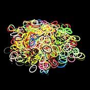 600pcs DIY虹色織機スタイルシリコーンバンドブレスレット600pcsバンド、1袋S-クリップと1フック1箱