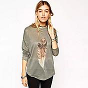 WOMEN - ビンテージ/カジュアル/パーティー - Tシャツ ( コットン ラウンド - 長袖