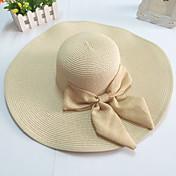 gran sombrero de ala ancha de paja de ala arco de las mujeres