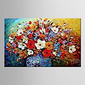 手描きの 抽象的な風景画 / 花柄/植物の欧風 1枚 キャンバス ハング塗装油絵 For ホームデコレーション
